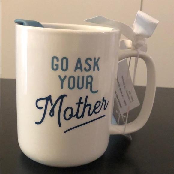 Threshold Other - Threshold stoneware coffee mug w/lid go ask your